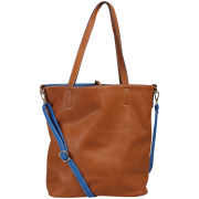 Kris-Ana Reversible Shopper - Blue/Tan
