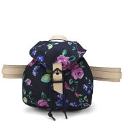 Carven Small Floral Printed Backpack - Navy