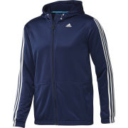 adidas Men's Classic Full Zip Hoody - Navy/White