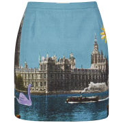 Paul by Paul Smith Women's Postcard Print Mini Skirt - Multi