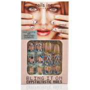 nails inc. Bling It On Crystaltastic Nails - Chic Pink and Blue