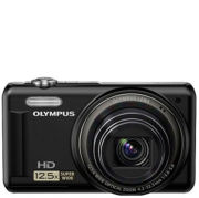 Olympus VR-320 Digital Camera (14MP, 12.5x Super Wide Optical Zoom, 3-Inch LCD) - Black - USB Charge Only - Grade A Refurb