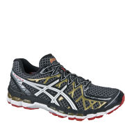 Asics Men's Gel Kayano 20 Running Trainers - Black/White/Gold