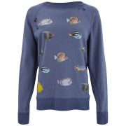 Wildfox Women's Fishes Destroyed Sweater - Night Run