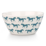 Anorak Kissing Horses Melamine Bowl