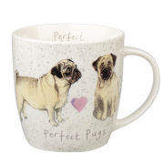 Alex Clark Squash Mug Delight Dog Pug - Multi