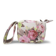 Carven Floral Small Leather Pouch Bag - Sand