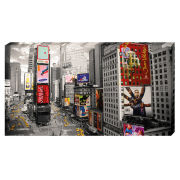 New York Time Square - 30 x 55cm Value Canvas