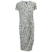 Helmut Lang Women's Draped Print Midi Dress - Vein Multi