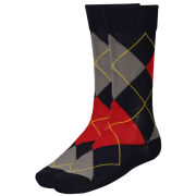 Barbour Men's Durham Argyle Socks - Navy Mix