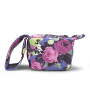 Carven Floral Small Leather Pouch Bag - Blueberry