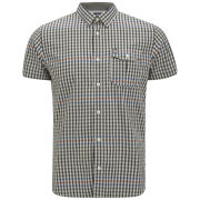 Duck and Cover Men's Grantham Short Sleeve Shirt - Coal