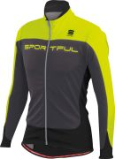 Sportful Performance Men's Flash Softshell Jacket - Anthracite/Yellow Fluo