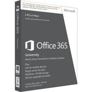Microsoft Office 365 University - License Card, 2 PC's, 4 Years (PC/Mac)