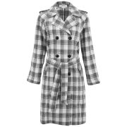 Glamorous Women's Lightweight Checked Coat - Multi