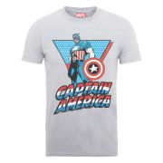 Marvel Captain America Triangle Men's T-Shirt - Grey