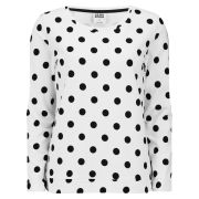 Vero Moda Women's Doris Polka Dot Top - White