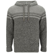 Firetrap Men's Twisted Textured Hoody - Mid Grey Marl