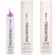 Paul Mitchell Extra Body Trio- Shampoo, Daily Rinse & Sculpting Foam