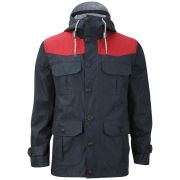 Brave Soul Men's Penrithss Jacket - Navy/Chilli Red