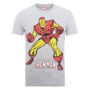 Marvel Iron Man Pose Men's T-Shirt - Heather Grey