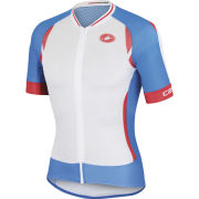 Castelli Climber's 2.0 Full Zip Jersey - White/Blue/Red