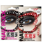 Rock Cosmetics Nail Rock Nail Wrap Duo- Seeing Spots Red and Black