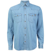Jack & Jones Men's Long Sleeve Office Shirt - Light Blue Denim