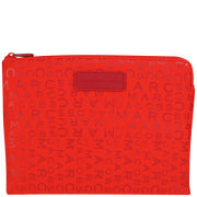 Marc by Marc Jacobs New Jumbled Logo Neoprene Tablet Zip Case - Cabernet Red