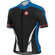 Castelli Climbers Full Zip Jersey - Black/White/Blue