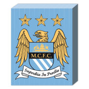 Manchester City Club Crest - 40 x 30cm Canvas