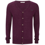 Brave Soul Men's Knitted Cardigan - Wine Nepp