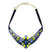 Matthew Williamson Women's Embellished Glitter Necklace - Navy