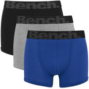 Bench Men's 3 Pack Fashion Trunks - Blue/Black/Grey