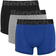 Bench Men's 3 Pack Fashion Trunks - Blue/Black/Grey