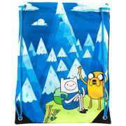 Adventure Time Jake And Finn Blue Mountain Drawstring Gym Bag