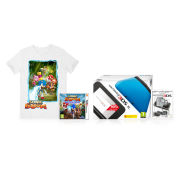 Nintendo 3DS XL Blue/Black Sonic Boom Pack +  T-Shirt (Large)
