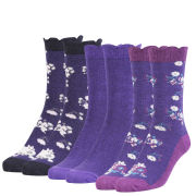 Love Struck Women's 3 Pack Sock Gift Set - Purple