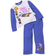 Peppa Pig Boys' Pyjama Set - Blue/White
