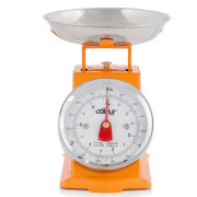 Cook In Colour 3kg Mini Traditional Kitchen Scales - Orange