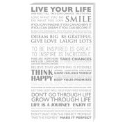 Live Your Life - 30 x 55cm Value Canvas