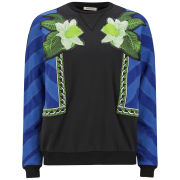 Emma Cook Women's Lux Applique Sweatshirt - Blue/Black/Green