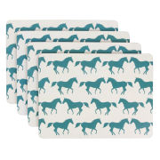 Anorak Kissing Horses Placemats (Set of 4)