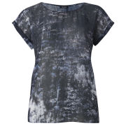 2nd Day Women's Silky Print Top - Grey