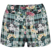 Glamorous Women's Scuba Coordinating Shorts - Green