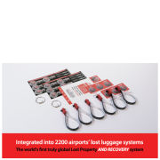 HomingPin Luggage Recovery Double Pack (Includes 6 Loops, 12 Large Stickers, 12 Small Stickers and 2 Keyring Adaptors)