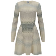 M Missoni Women's Long Sleeve Knitted Dress - Panna