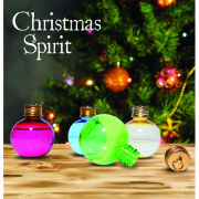 Christmas Spirit Flask Tree Decorations - Set of 6