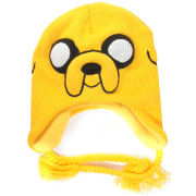 Adventure Time Jake Acrylic Beanie Hat With Braided Ties