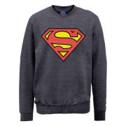 DC Comics Sweatshirt - Superman Shield - Steel Grey